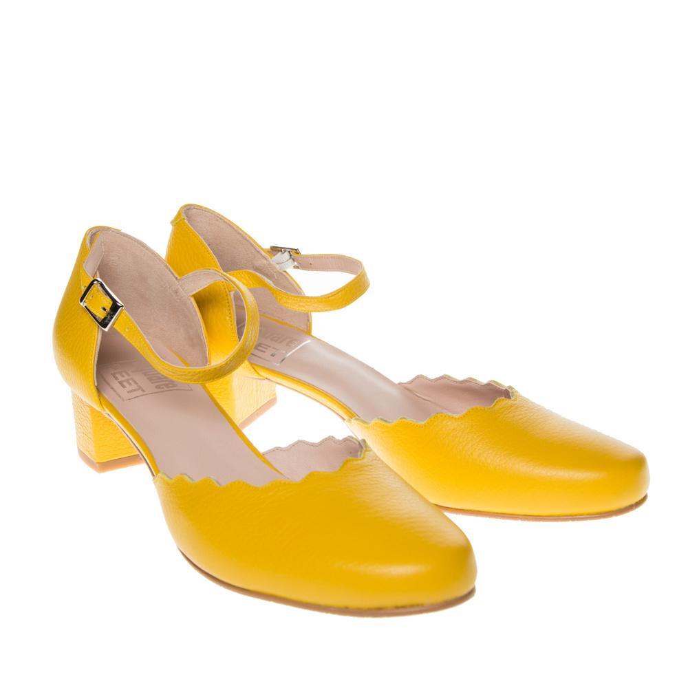 Super Pumps Square Feet D2739 geel leer | Squarefeet.nl FW-19