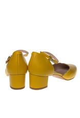 Square Feet Square Feet dames geel leren pumps enkelbandje