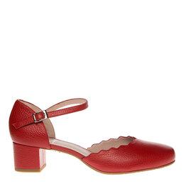 Square Feet Square Feet dames rood leren pumps enkelbandje
