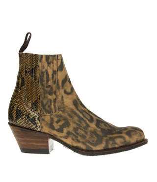Sendra Debora chelsea boots  lynx/slang print