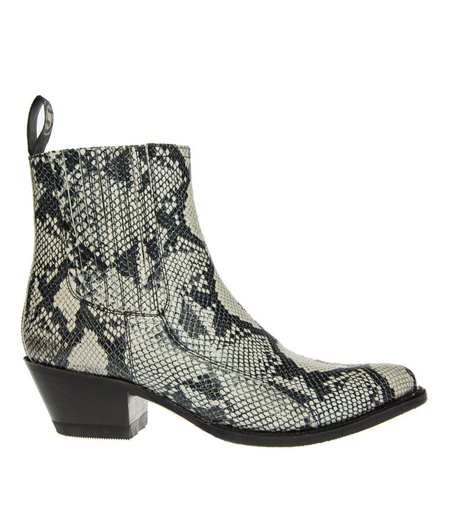 Sendra Sendra dames chelsea boots slangprint