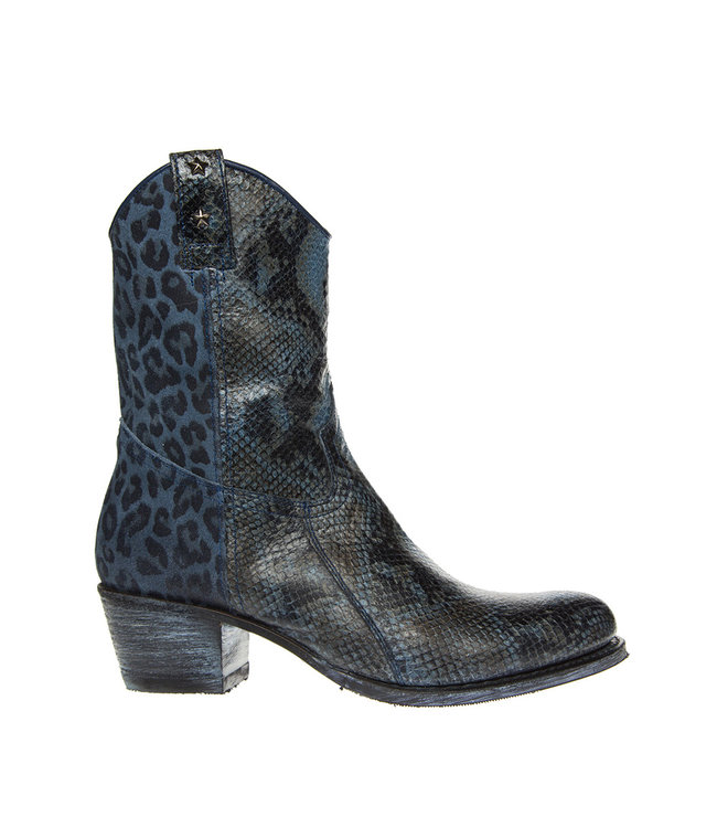 Sendra Sendra ladies western snake leopard-print blue