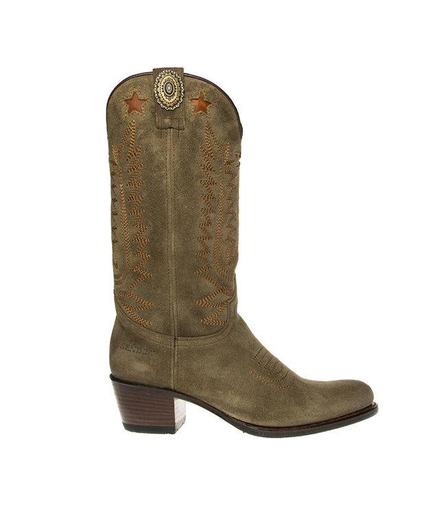 Sendra Sendra ladies cowboy boots taupe