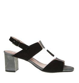 Square Feet Square Feet dames zwart/grijs elegante sandaal
