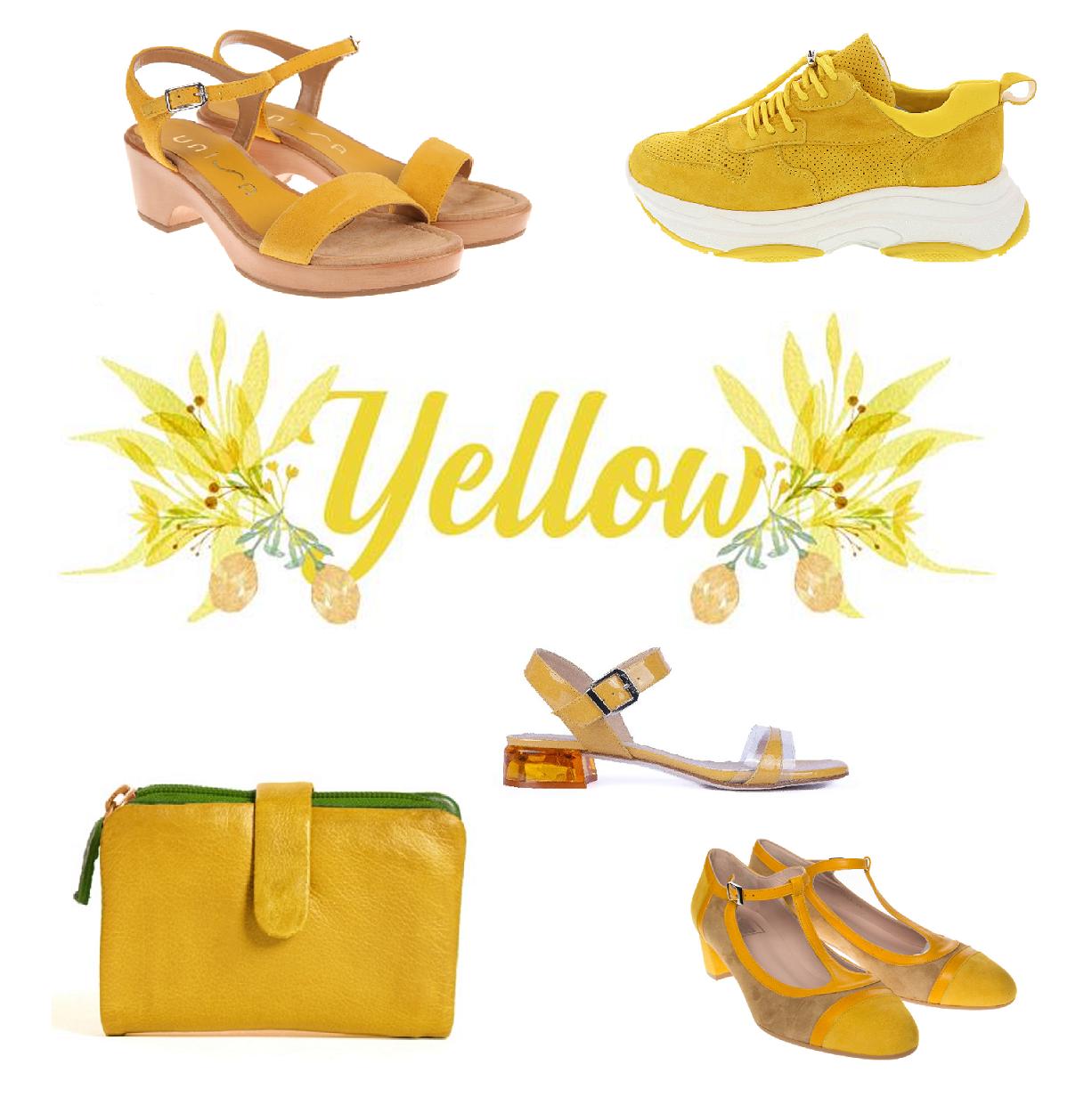 De mode kleur: geel