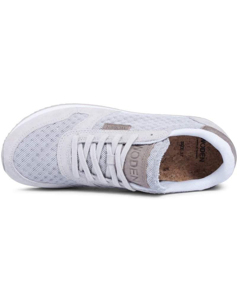 Woden Woden Ydun mesh dames sneaker grijs
