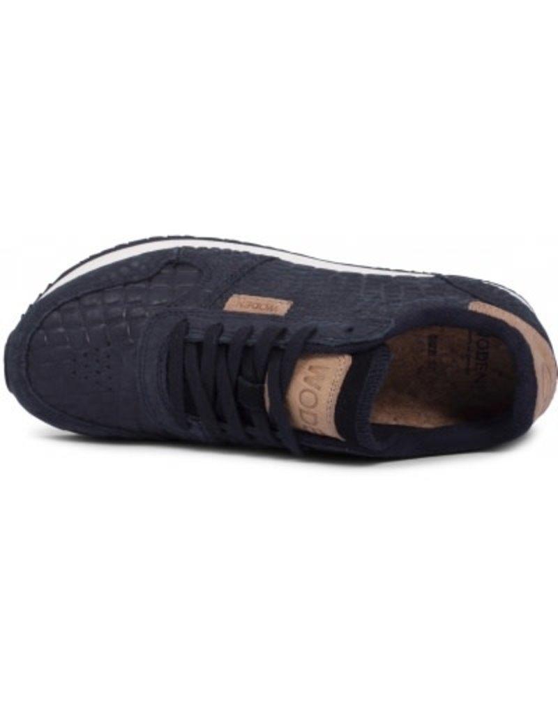 Woden Woden Ydun croco dames sneaker zwart