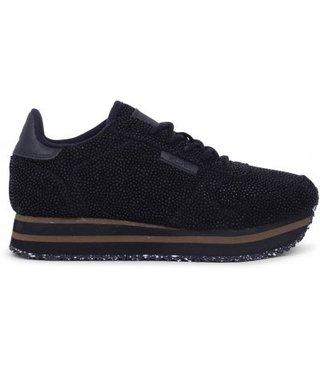 Woden Ydun Pearl Plateau sneakers zwart