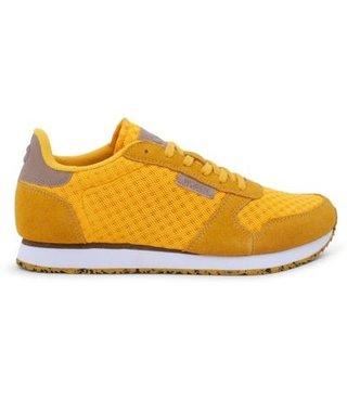 Woden Ydun mesh dames sneaker geel