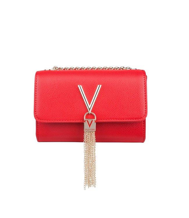 Valentino Valentino Divina rood dames schoudertas