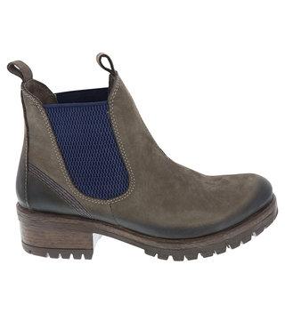 Lazamani dames chelsea boots grijs nubuck