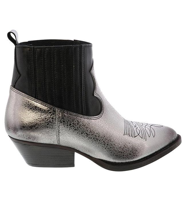 Lazamani Lazamani ladies chelsea boots silver