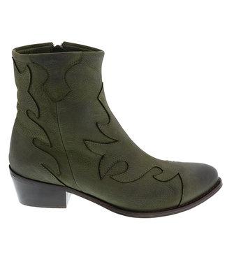 Lazamani Lazamani ladies western boots green leather