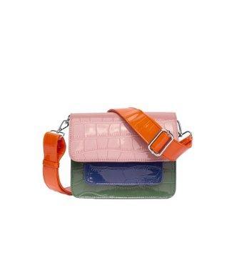 HVISK HVISK Pocket multi roze dames schoudertas
