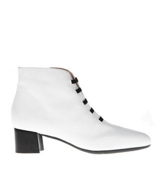 Square Feet korte ritslaars elastiekjes wit