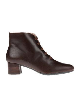Square Feet korte ritslaars elastiekjes bruin