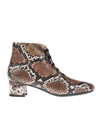 Square Feet Square Feet short zipper boot bands brown snake