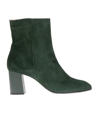 Square Feet korte ritslaars groen suède