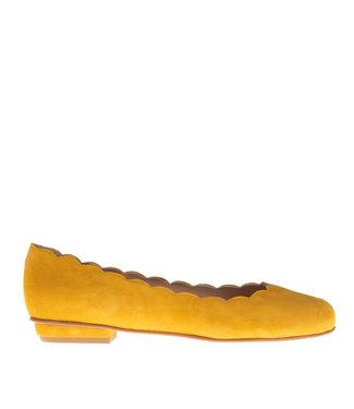 Square Feet Square Feet ballerina geel suède