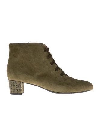 Square Feet Square Feet short zipper boots elastic green