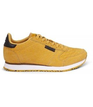 Woden Ydun croco dames sneaker geel