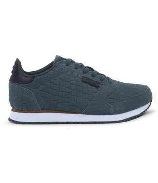 Woden Woden Ydun croco green ladies sneaker