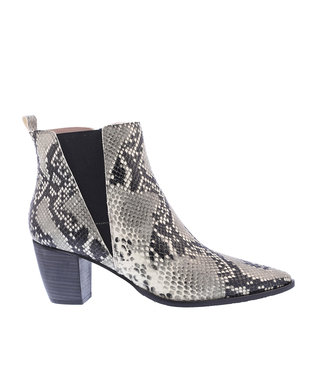 Square Feet dames enkellaars  slang print