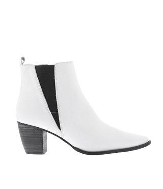 Square Feet dames enkellaars  wit leer