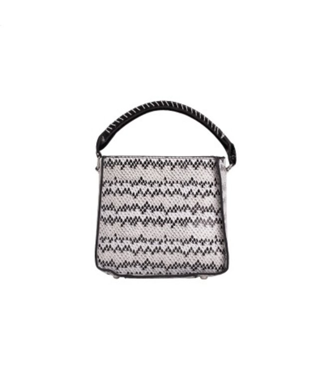 HVISK HVISK Cayman Snake Bucket white ladies bag