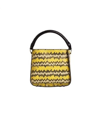 HVISK HVISK Cayman Snake Bucket yellow ladies bag