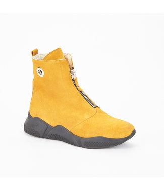 Ca Shott Ca Shott wol gevoerde ritsboots geel suède