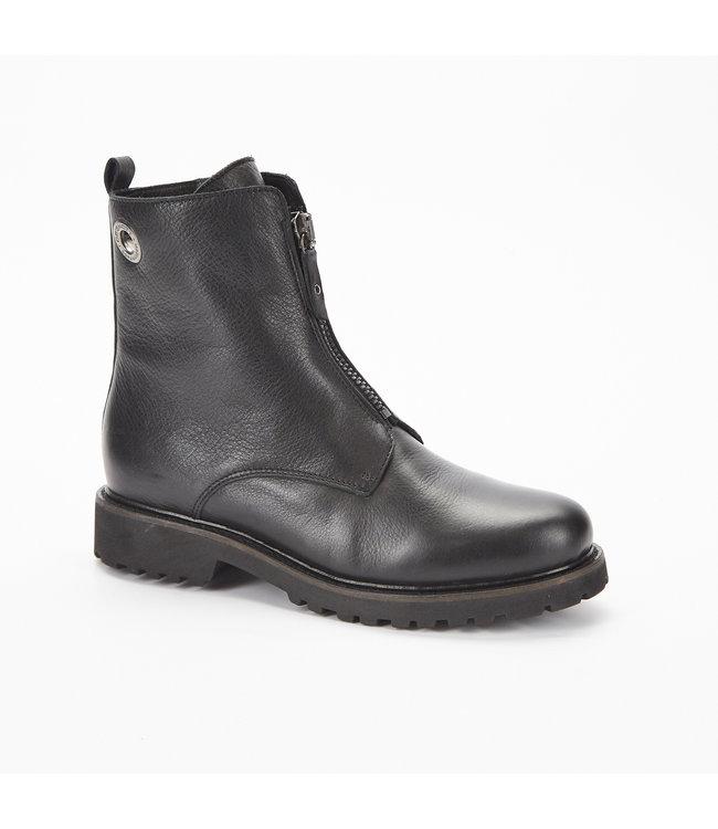 Ca Shott Ca Shott wol gevoerde rits boots zwart leer