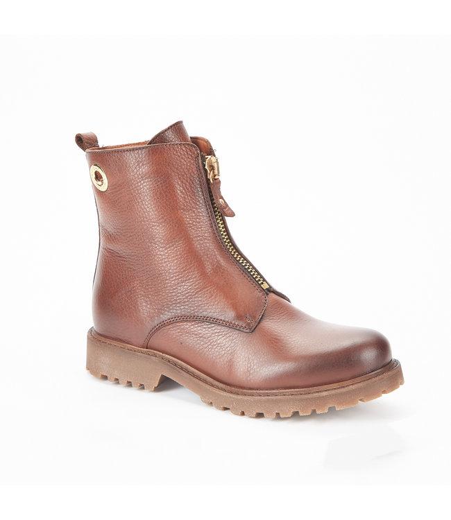 Ca Shott Ca Shott wol gevoerde rits boots bruin leer