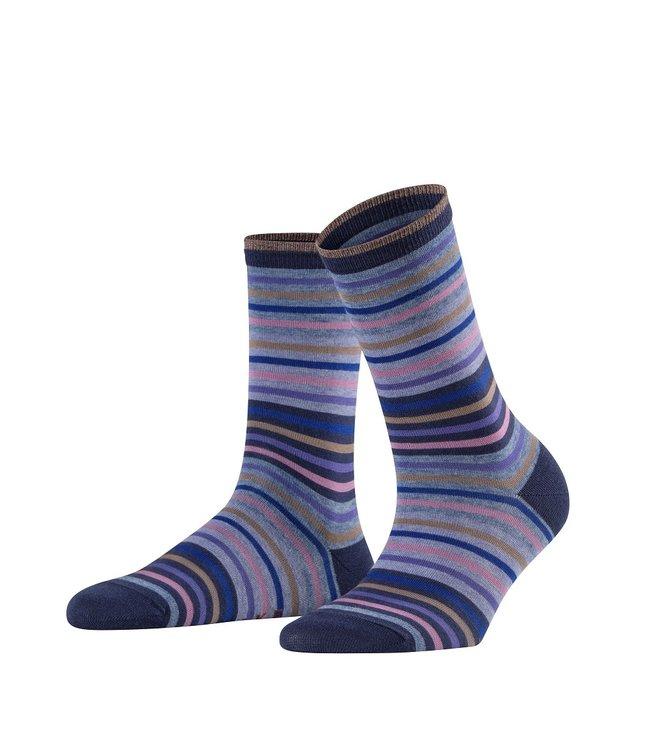 Falke Falke gestreepte sokken marine