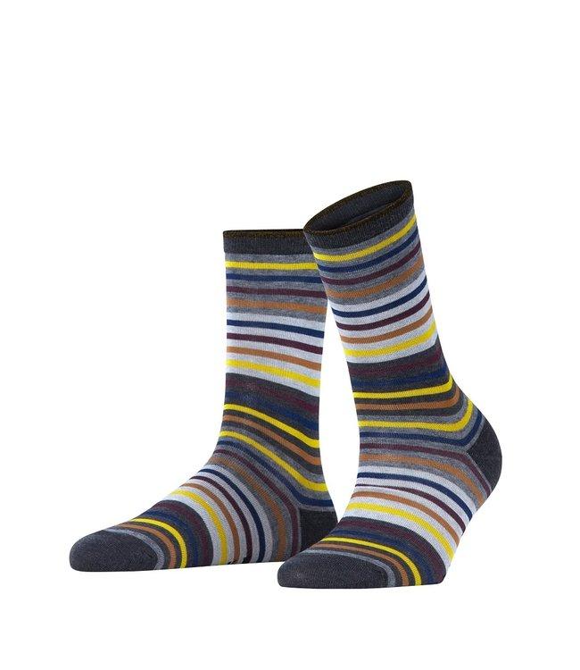 Falke Falke gestreepte sokken anthracite