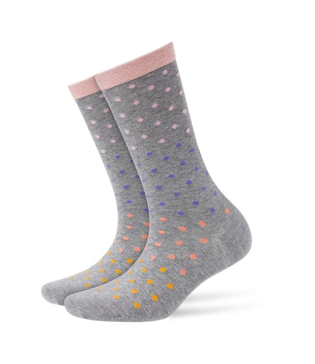 Burlington Socks dotty gray dots