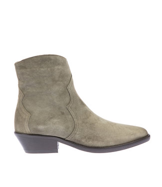 Julie Dee Julie Dee short western boot olive green suede