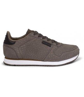 Woden Woden Ydun croco dames sneaker bruin