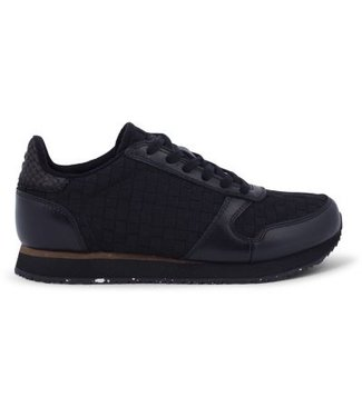Woden Woden Ydun braid ladies sneaker black