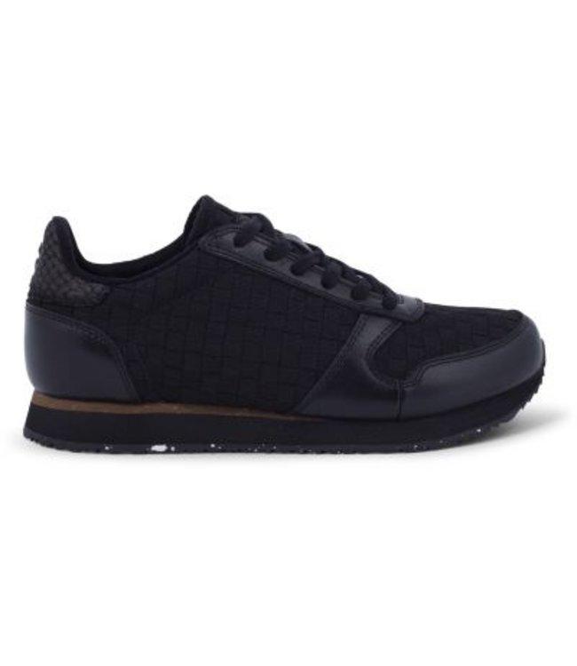 Woden Woden Ydun braid ladies sneaker black
