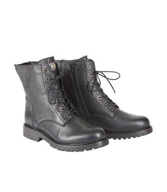 Ca Shott Ca Shott wol gevoerde veter boots zwart leer