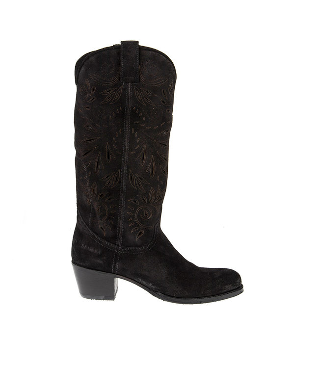 Sendra Sendra cowboy women's boot perforations black