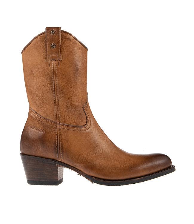 Sendra Sendra dames cowboy boots bruin leer
