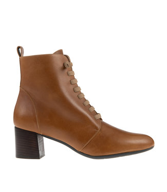Square Feet Square Feet short lace boot cognac leather