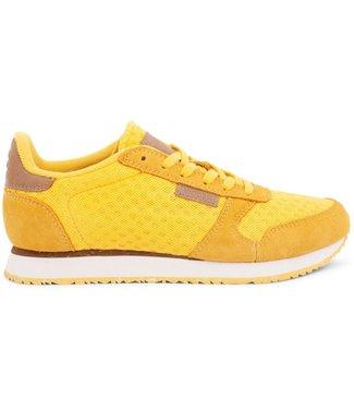 Woden Woden Ydun suède mesh geel dames sneaker