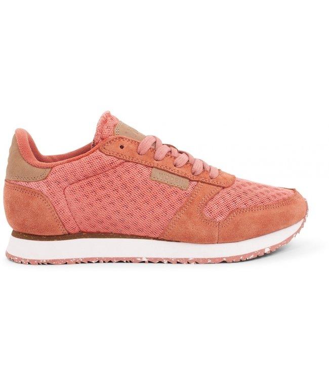 Woden Woden Ydun suède mesh roze dames sneaker