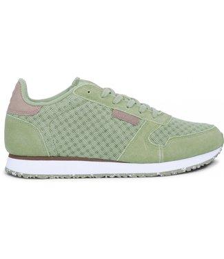Woden Woden Ydun suède mesh groen dames sneaker