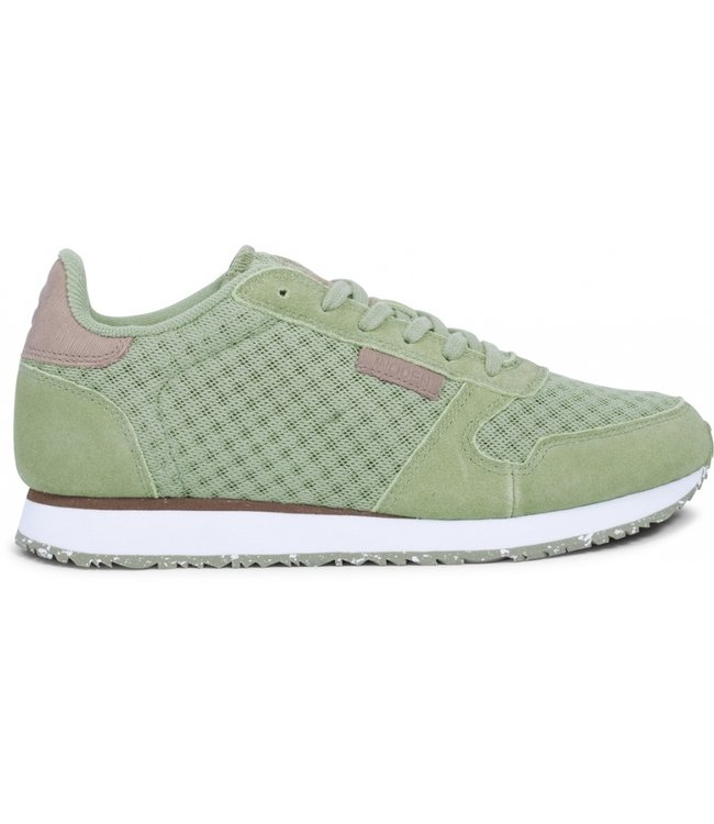 Woden Woden Ydun suede mesh green ladies sneaker