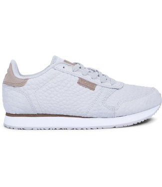Woden Woden Ydun croco ladies sneaker grey