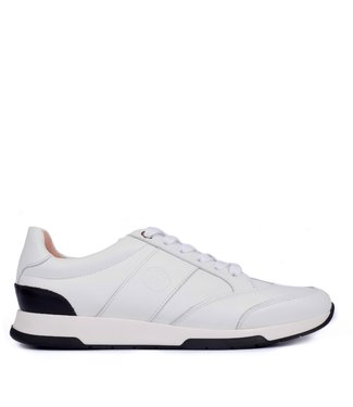 Unisa Unisa ladies sneaker leather white with black